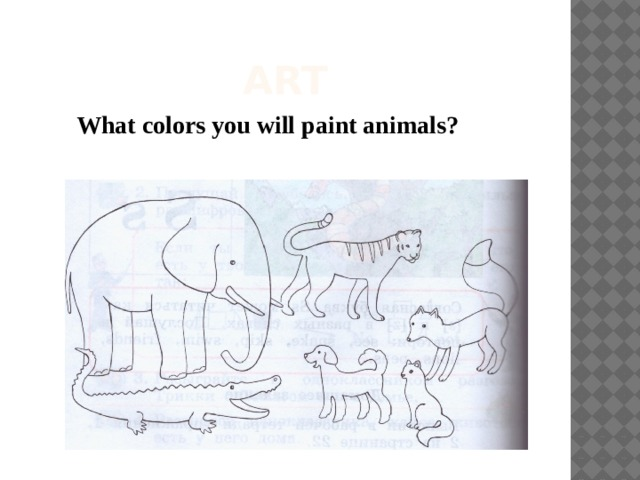 ART What colors you will paint animals?