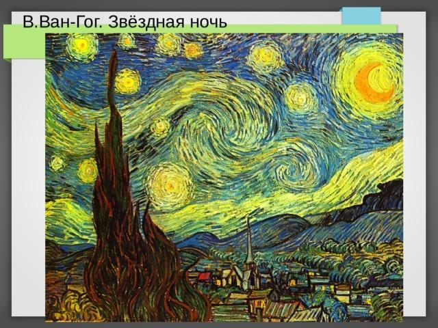 В.Ван-Гог. Звёздная ночь