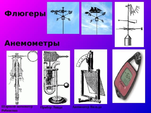 Флюгеры Анемометры Шаровой анемометр Робинсона Прибор Линда  Анемометр  Вильда
