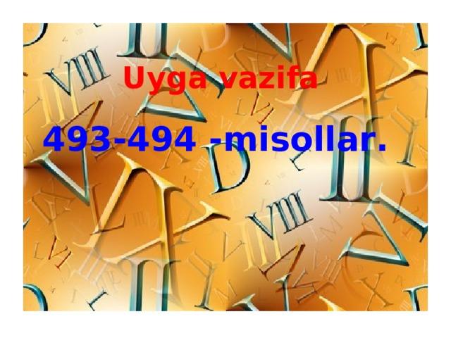 Uyga vazifa 4 93- 4 94 -misollar .