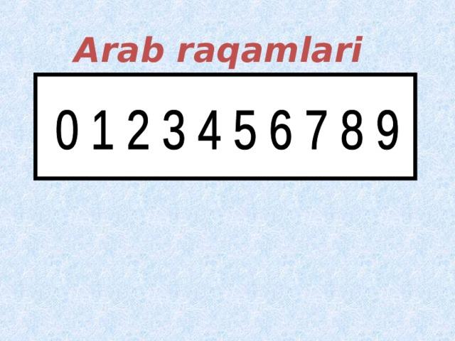 Arab raqamlari