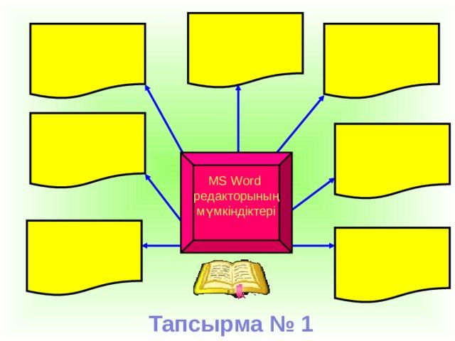 MS Word редакторының мүмкіндіктері Тапсырма № 1