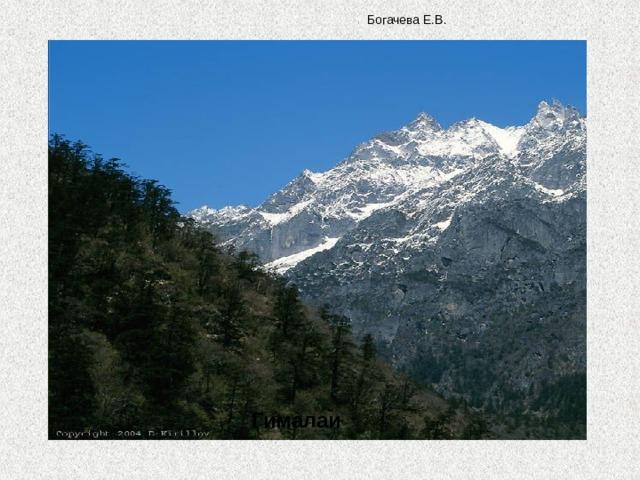 Богачева Е.В.  Гималаи
