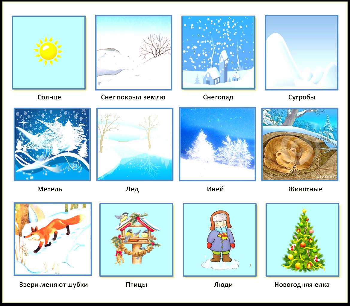 Приметы зимы для детей с картинками