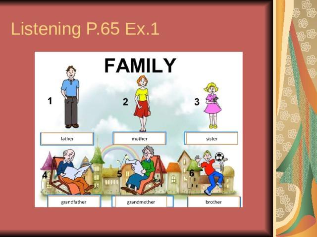 Listening P.65 Ex.1