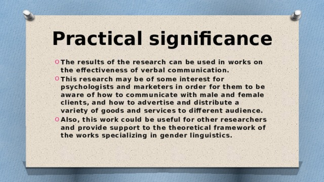 Practical significance