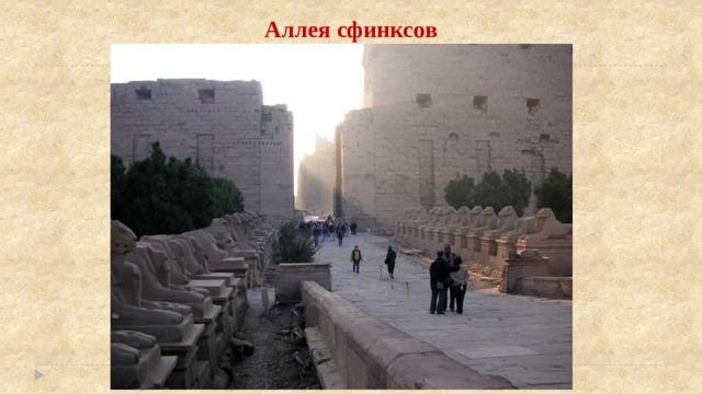 Аллея сфинксов