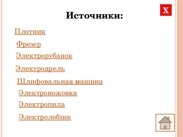 Х Источники: