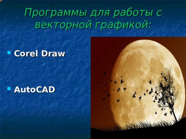 Программы для работы с векторной графикой: Corel Draw