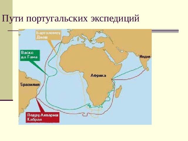 Пути португальских экспедиций