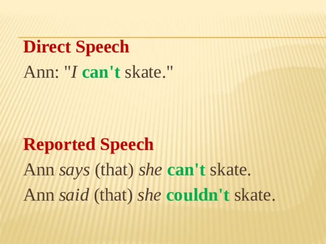Direct Speech  Ann: