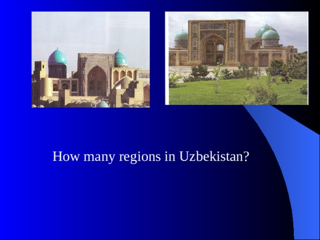 How many regions in Uzbekistan?