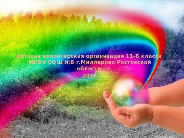 Детская волонтерская организация 11-Б класса  МБОУ СОШ №8 г.Миллерово Ростовской области 2016