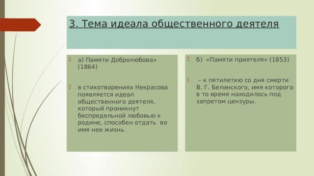 3. Тема идеала общественного деятеля