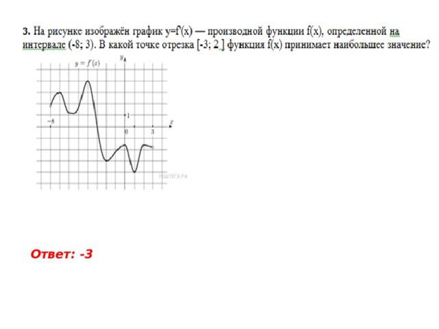 Ответ: -3