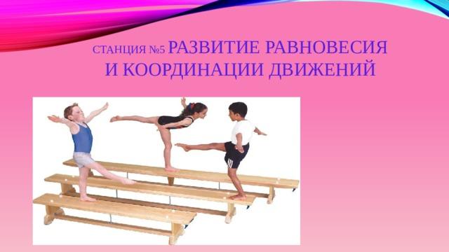 Станция №5 Развитие равновесия и координации движений