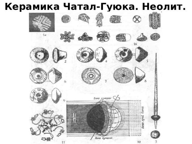 Керамика Чатал-Гуюка. Неолит.