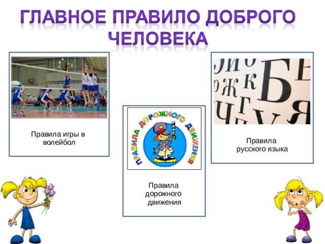 Правила игры в волейбол Правила русского языка Правила дорожного движения 10