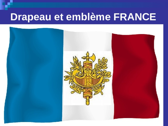 Drapeau et emblème FRANCE