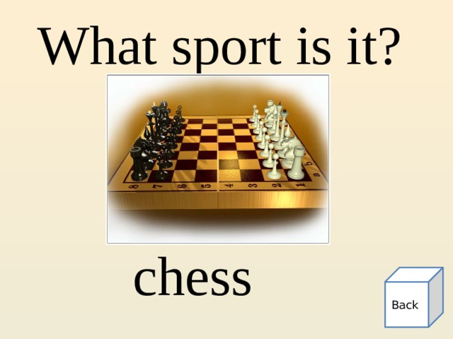 What sport is it? chess Back