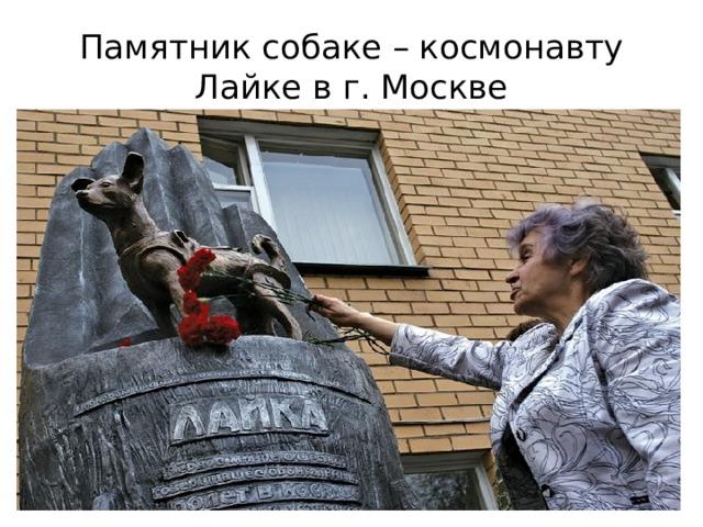 Памятник собаке – космонавту Лайке в г. Москве
