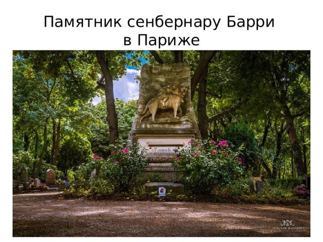 Памятник сенбернару Барри  в Париже