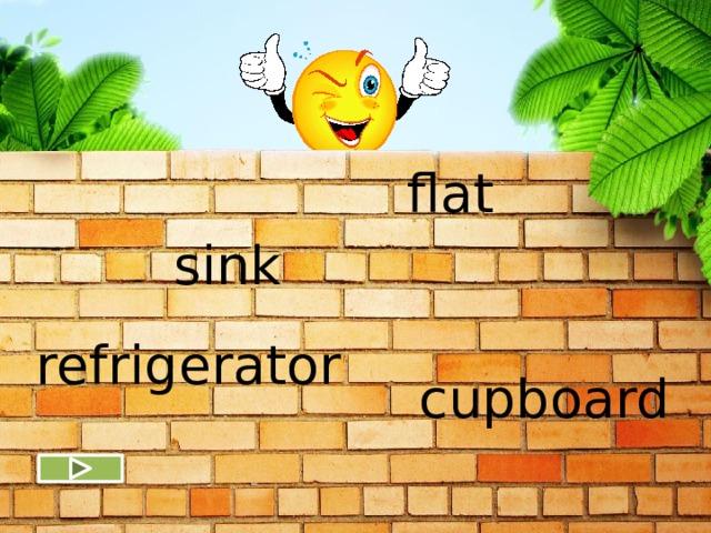 flat sink refrigerator cupboard
