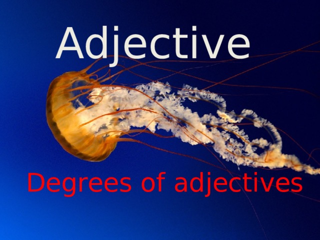 Adjective Degrees of adjectives