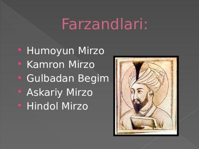 Farzandlari: