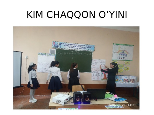 KIM CHAQQON O'YINI