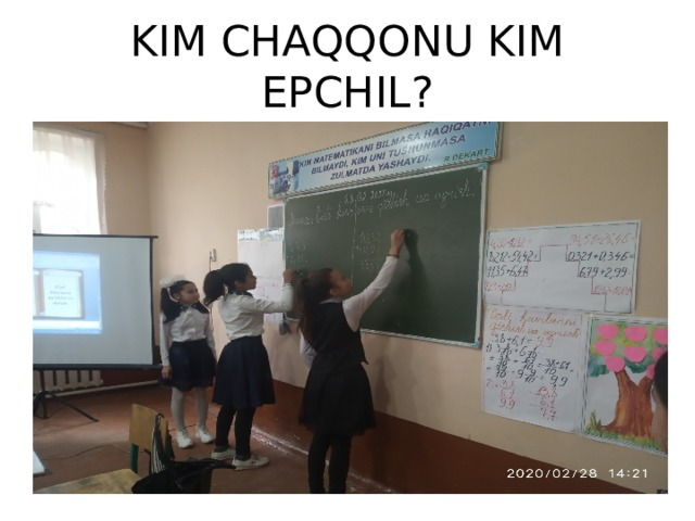KIM CHAQQONU KIM EPCHIL?