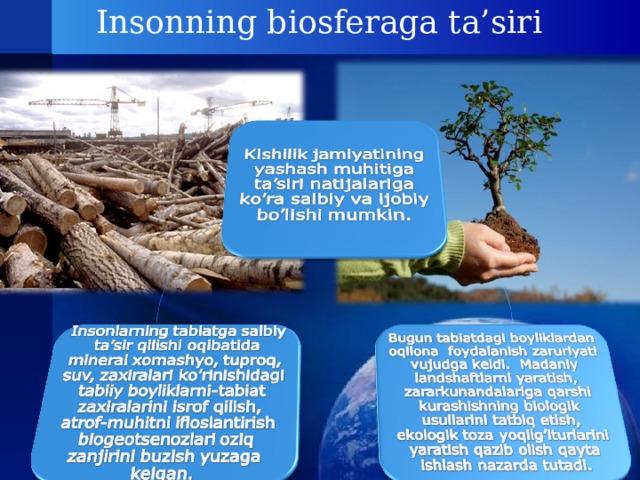 Insonning biosferaga ta'siri