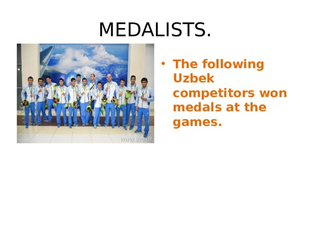 MEDALISTS.