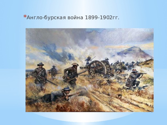 Англо-бурская война 1899-1902гг.
