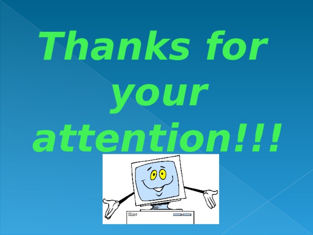 Thanksfor your attention!!!
