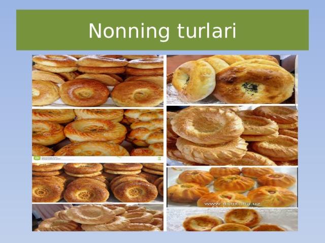 Nonning turlari