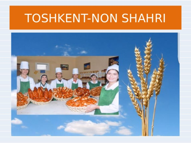 TOSHKENT-NON SHAHRI