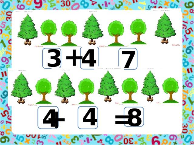 + = 4 3 7 4 + = 8 4