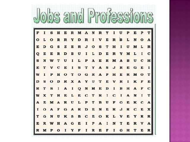 Match the professions and places