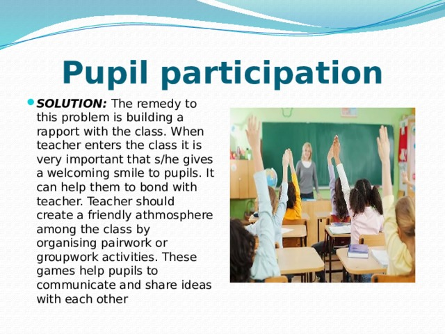 Pupil participation