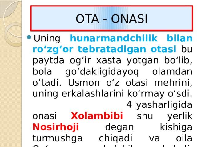 OTA - ONASI