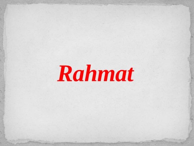 Rahmat