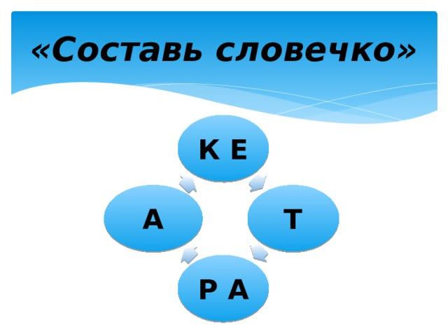 «Составь словечко» К Е Т А Р А
