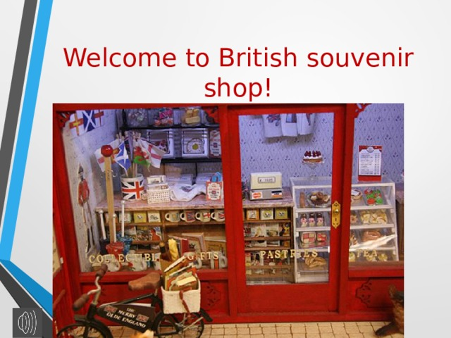 Welcome to British souvenir shop!