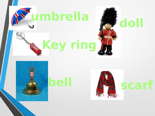 umbrella doll Key ring bell scarf