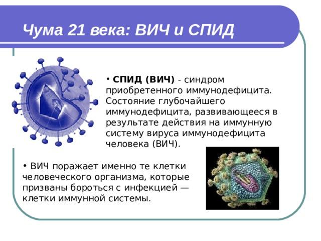 Чума 21 века: ВИЧ и СПИД