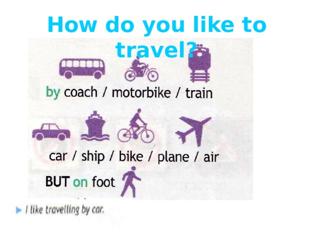 How do you like to travel?