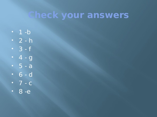 Check your answers