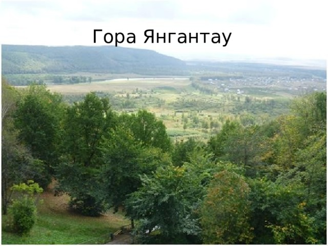 Вопрос № 3 Гора Янгантау Название этой горы переводится как «горящая гора». Расположена она в Салаватском районе Республики Башкортостан. Известна не только жителям Башкортостана, но и России. На горе действует курорт, носящий ее название.