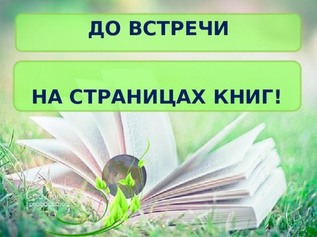 До встречи На страницах книг!